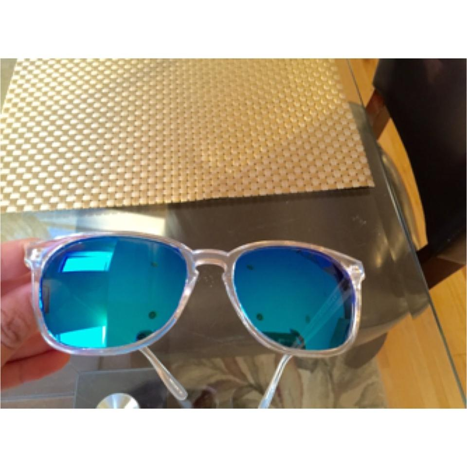 696ee2ae14 Cole Haan Cole Haan Clear Polarized Blue Sunglasses Image 5. 123456