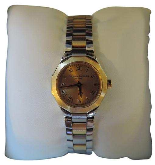 Preload https://item1.tradesy.com/images/baume-and-mercier-two-tone-riviera-18kt-yellow-gold-ladies-watch-982965-0-0.jpg?width=440&height=440