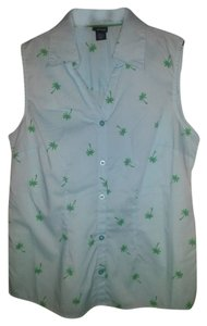 Other Palm Trees No Sleeves Top Baby Blue
