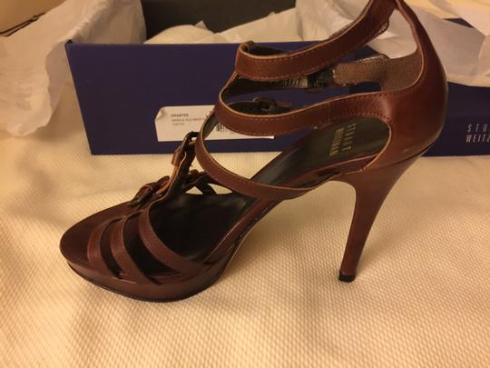 Stuart Weitzman Grantee Leather New Strappy Saddle Old West Sandals
