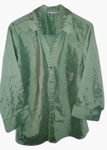 Dress Barn Top green