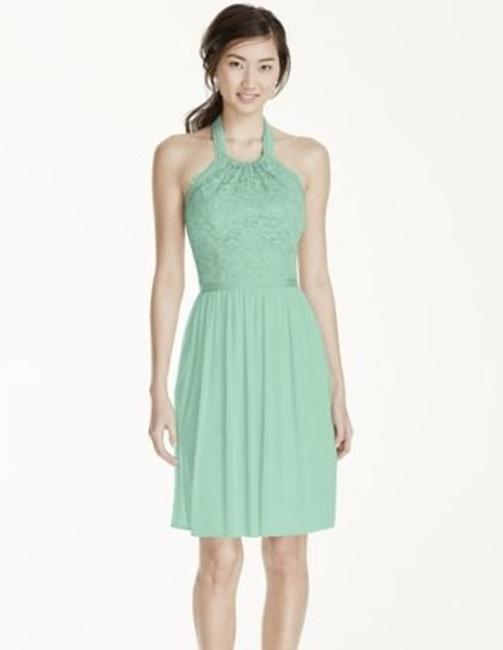 Item - Mint Lace 52% Nylon/48% Rayon Mesh Polyester F17020 Formal Bridesmaid/Mob Dress Size 8 (M)