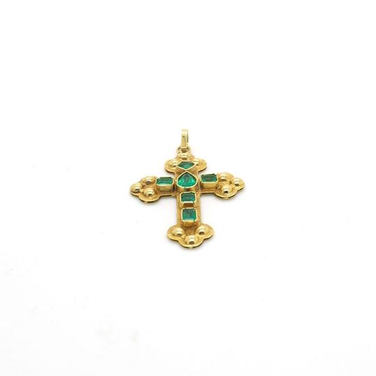 Other 0.49CT Emerald with 18k Yellow Gold Pendant