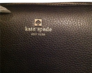 Kate Spade Leather Detachable Strap Gold Hardware Satchel in Black