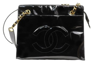 Chanel Gifts Patent Leather Large Free Shipping Shoulder Bag