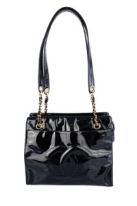 Chanel Patent Leather Shopping Tote in Black
