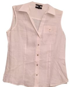 Foxcroft Button Down Shirt White linen