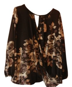 Lane Bryant Top Black/Floral