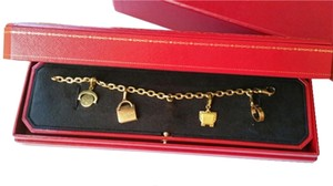 Cartier Authentic Cartier Bracelet with 4 Charms Original Box
