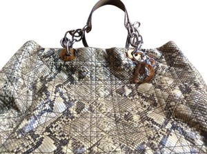 Dior Tote in Python grey black beige