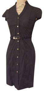 Express Work Cap Sleeve Belted Dress