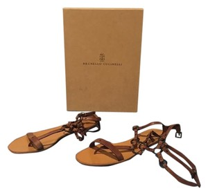 Brunello Cucinelli Gladiator brown Sandals
