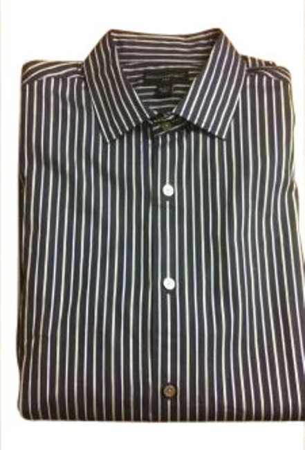 Preload https://item3.tradesy.com/images/banana-republic-navy-bluewhite-stripes-shirt-shir-button-down-top-size-14-l-9832-0-0.jpg?width=400&height=650