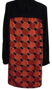 Boden short dress Black/red Tunic Viscose Longsleeve on Tradesy