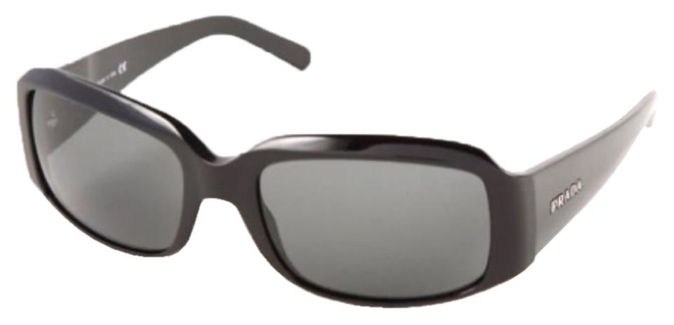 5624300b1a Prada Black Spr 12h Polarized Sunglasses - Tradesy