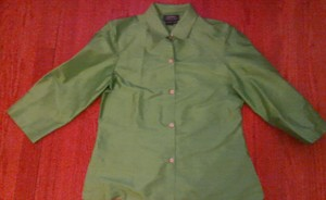 Ralph Lauren Silk Green Top kelly green