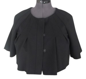 Theory theory short pleated cape with sleeves small P. cotton +rayon and spandex