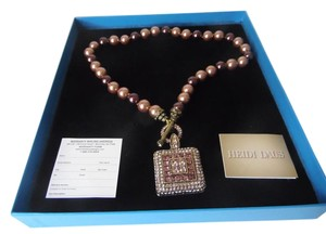 "Heidi Daus Heidi Daus ""Tantalizing"" Beaded Crystal Toggle Drop Necklace (Brand New In Box)"