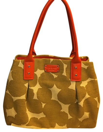 Preload https://img-static.tradesy.com/item/9832894/kate-spade-orange-and-beige-a-type-of-canvas-satchel-0-1-540-540.jpg