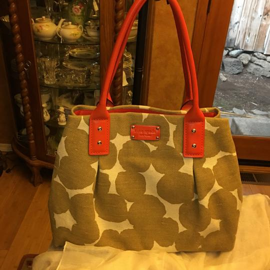 Kate Spade Satchel in orange and beige