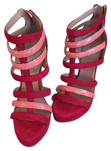 ALAA Red with pink shagreen Platforms