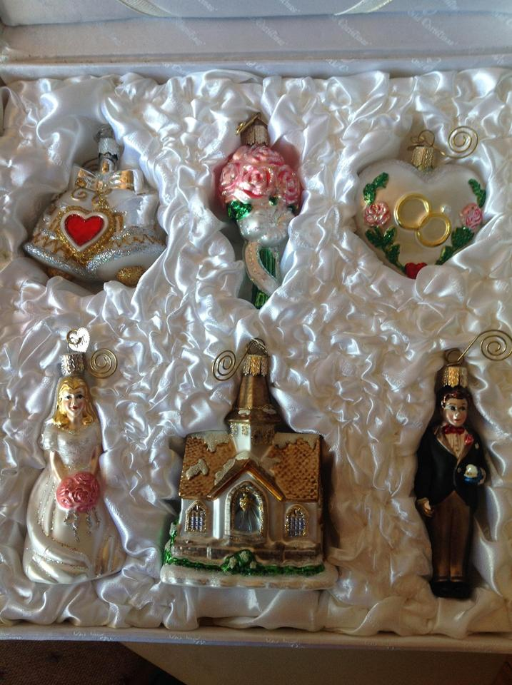 Old World Christmas The Wedding Ornaments Collection