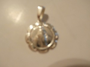 New Sterling Silver OUR LADY OF Lourdes medal Pendant