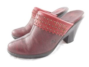 Børn Born Womens Leather Red Mules