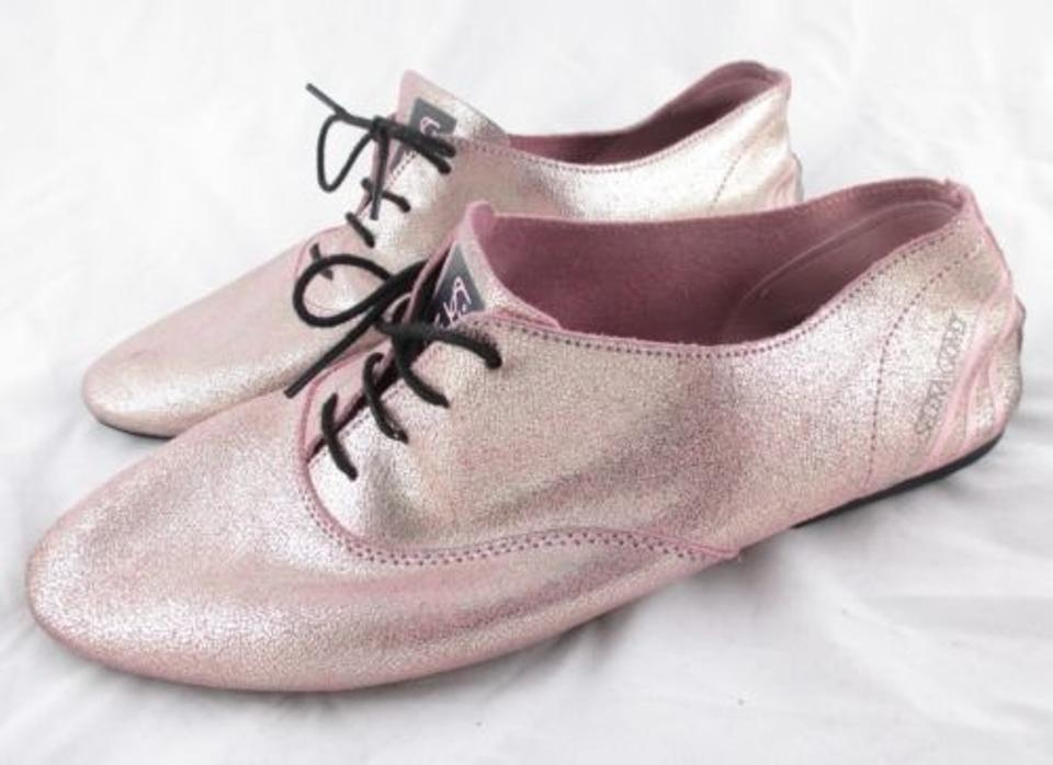new concept f2e75 364d8 adidas Neo Selena Gomez Shimmer Leather Oxford Ballet Pink Flats Image 0 ...