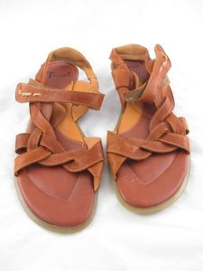 Think Tank Leather Strappy Brown Sandals