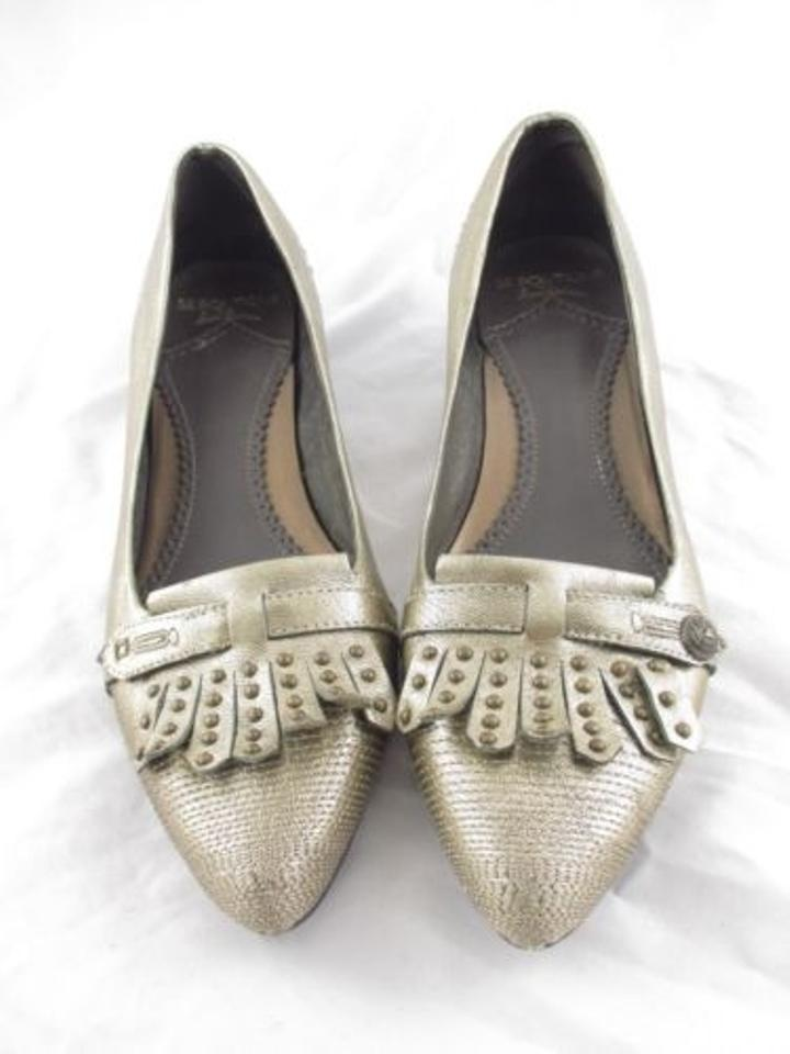 237d34df74e Sam Edelman Se Boutique Anthropologie Metallic Fringe Stud Heels Gold Pumps  Image 0 ...