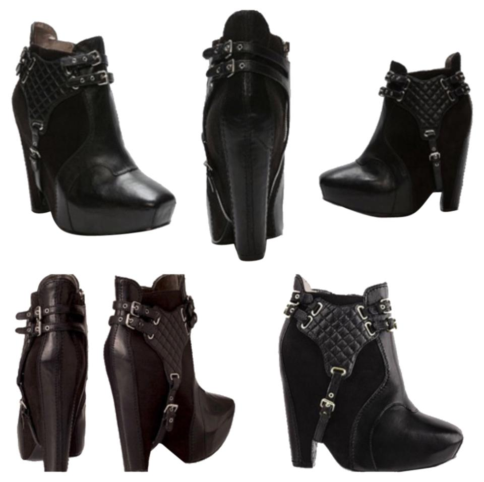 Sam Boots/Booties Edelman Black Leather Zoe Boots/Booties Sam 25cb39