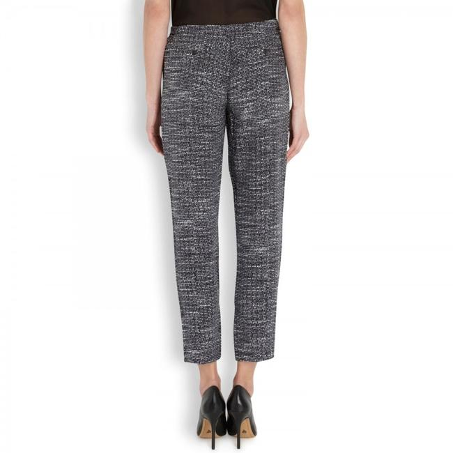 Joie Silk Relaxed Tweed Track Trouser Pants Black