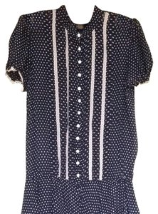 Rugby Ralph Lauren short dress Blue With White Dots And Lace on Tradesy