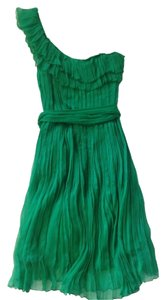 Kate Moss for Topshop Emerald Party Holiday Christmas Barney's Belted One Chiffon Dress