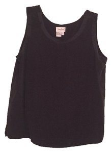 Neiman Marcus Silk Sleeveless Top Black