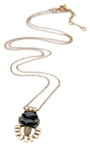 Other Deco Modern Neutral Black Stone Pendant Necklace
