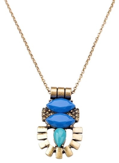 Preload https://img-static.tradesy.com/item/9835804/blue-deco-modern-neutral-stone-pendant-necklace-0-3-540-540.jpg