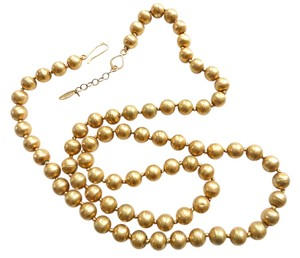 wendy mink Wendy Mink Gold pearl strand necklace