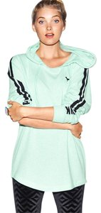 PINK Victoria's Secret Varsity Mint Ice Black Sweatshirt
