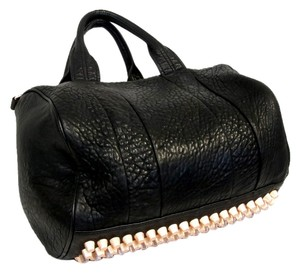 Alexander Wang Rocco Knit Lambskin Leather Caviar Grained Studded Studs Purse Tote Cross Body Crossbody Chrome Gold Rose Gold Raw Diego Shoulder Bag
