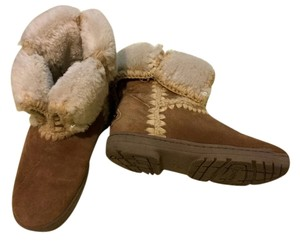 Bearpaw Suede/knite Shearling Hickory Boots