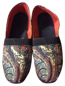 Mix No. 6 Paisley Print Coral blue Flats