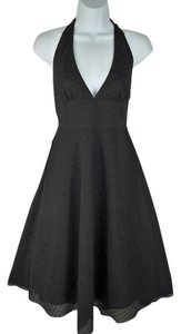 J.Crew short dress Black Halter Textured on Tradesy