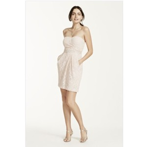 David's Bridal Blush Dress