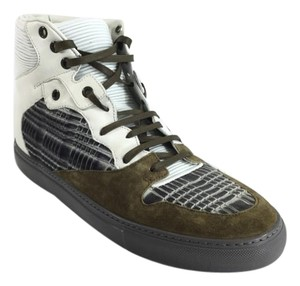 Balenciaga Mens Leather High Top Sneakers Athletic
