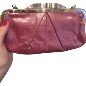 Hobo International Evening Leather Light Pink Clutch