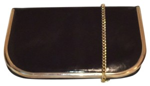 Susan Gail Leather Patent Leather Clutch