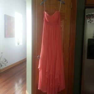 David's Bridal Coral Reef Chiffon F14865 Modern Bridesmaid/Mob Dress Size 16 (XL, Plus 0x)