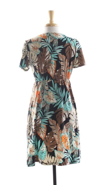 Coco Bianco New Coco Bianco Swimsuit Cover up V-Neck Tropical Dress- Large